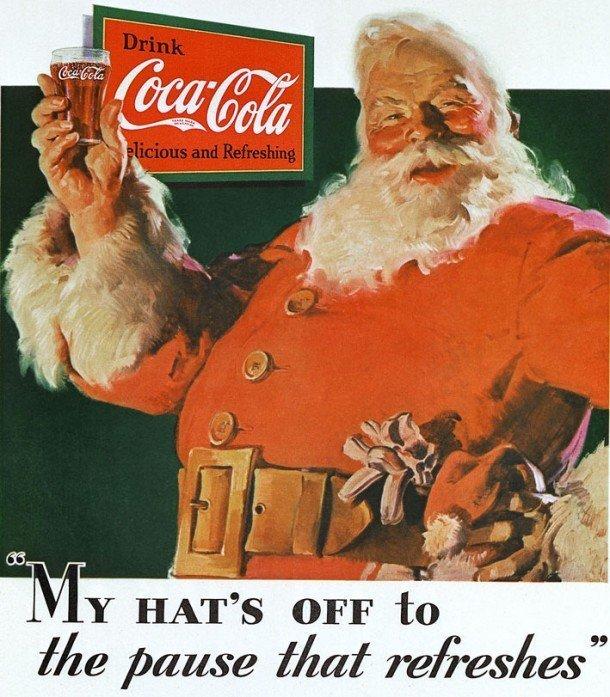 Publicidad Santa Claus Coca Cola