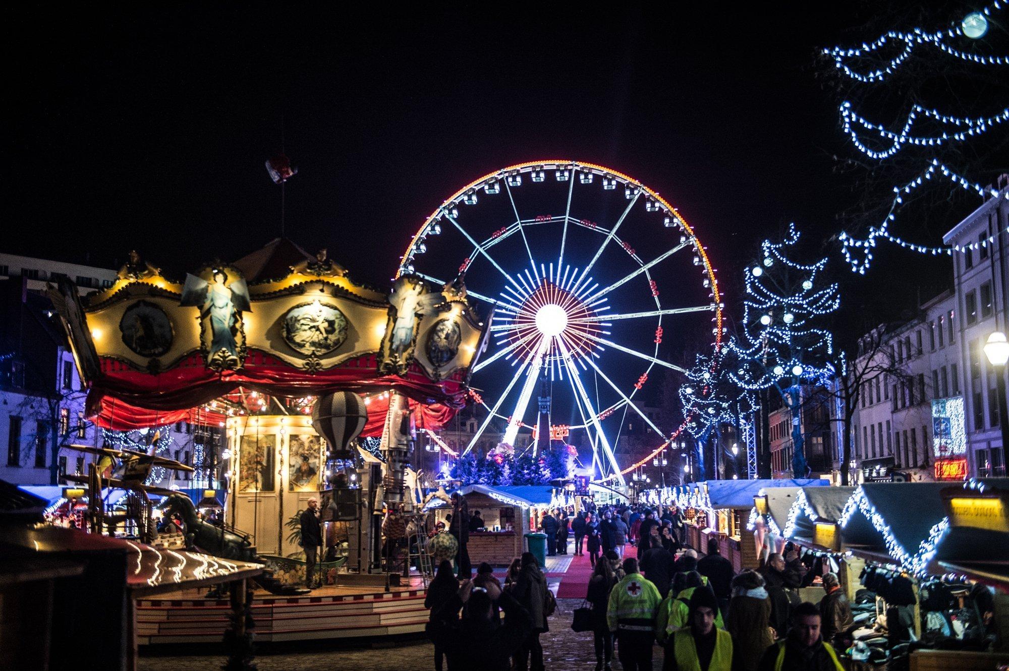 Mercado de navidad e Bruselas